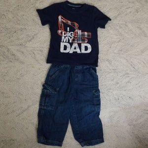 2T Dig my Dad outfit